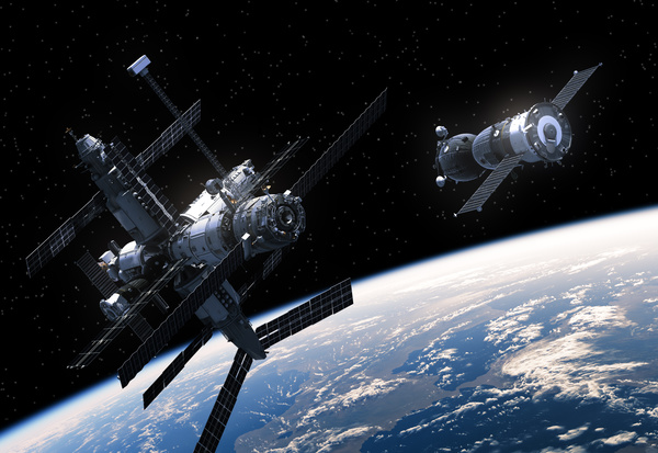 Space satellite in orbit satellite HD picture - Objects ...