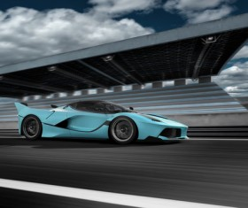 Speeding car Stock Photo