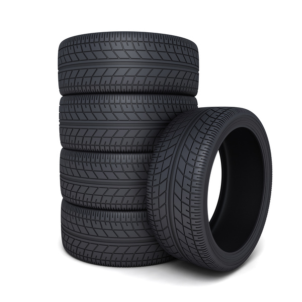 Stacked car tires Stock Photo 01