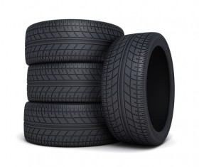 Stacked car tires Stock Photo 02