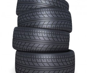 Stacked car tires Stock Photo 03