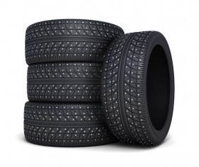 Stacked car tires Stock Photo 04