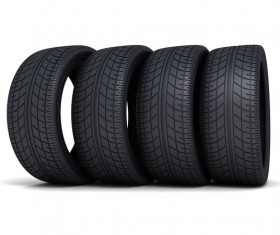 Stacked car tires Stock Photo 05