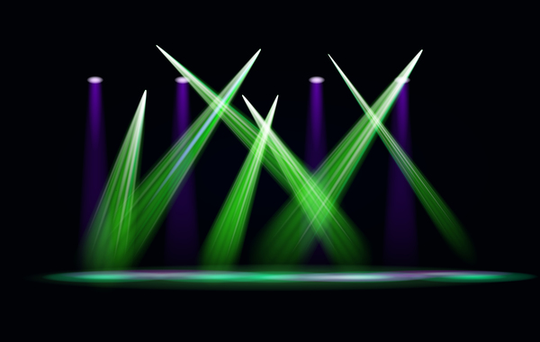 Stage Light Effect Spotlight Vector Ilration 02 Free