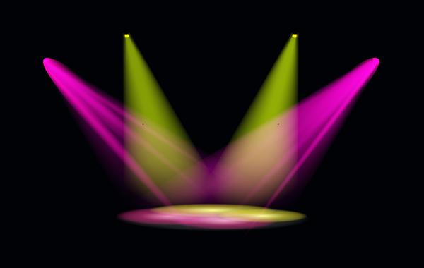 Stage Light Effect Spotlight Vector Illustration 06