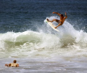 Surfing man HD picture