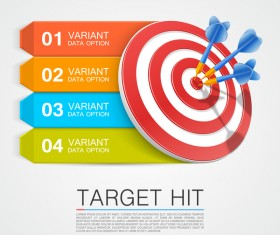 Target hit Infographics vector template 02