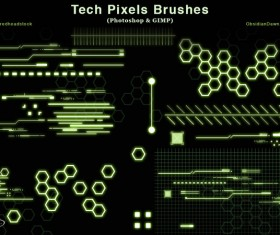 Tech Pixels Photoshop Brushes