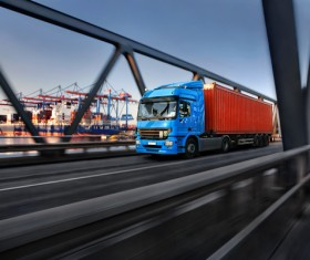 Terminals for container delivery trucks HD picture