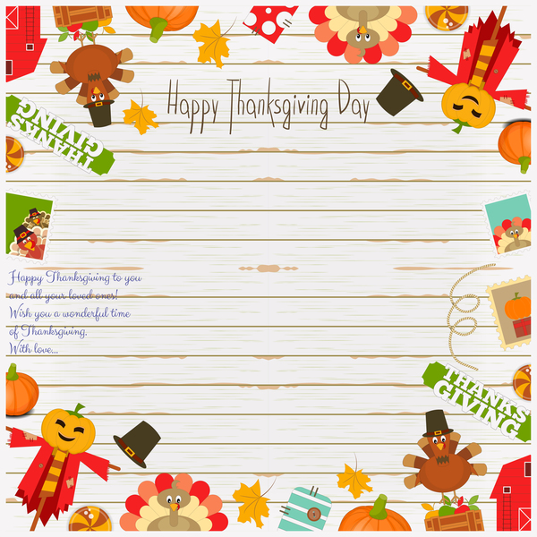Thanksgiving frame vector material free download