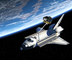 The Space Shuttle and the Earth HD picture