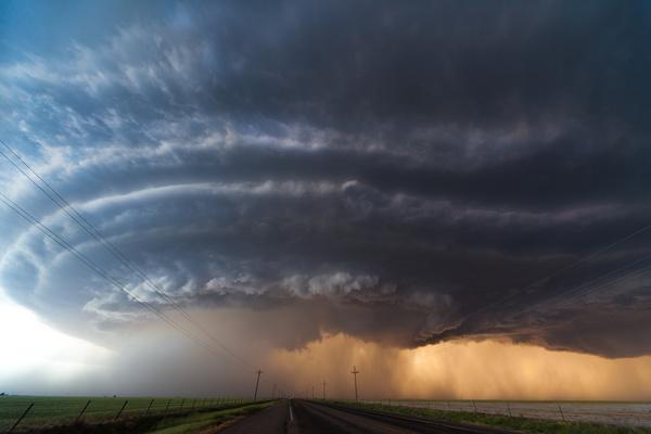 Tornado weather Stock Photo