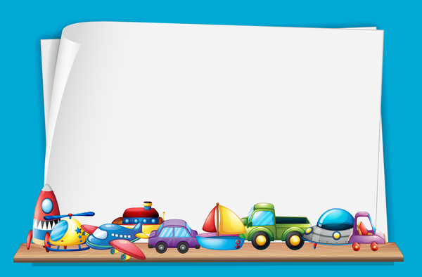 Toys With Paper Background Vectors 04 Free Download