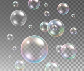 Transparent bubble illustration vector set