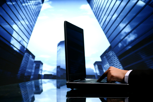 Use a computer's real estate agent HD picture - Business stock photo ...