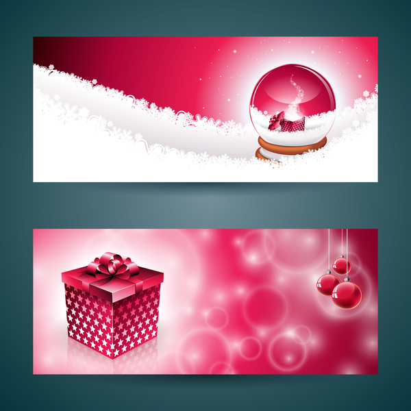 Vector graphic christmas banners design 02 - Vector Banner, Vector ...