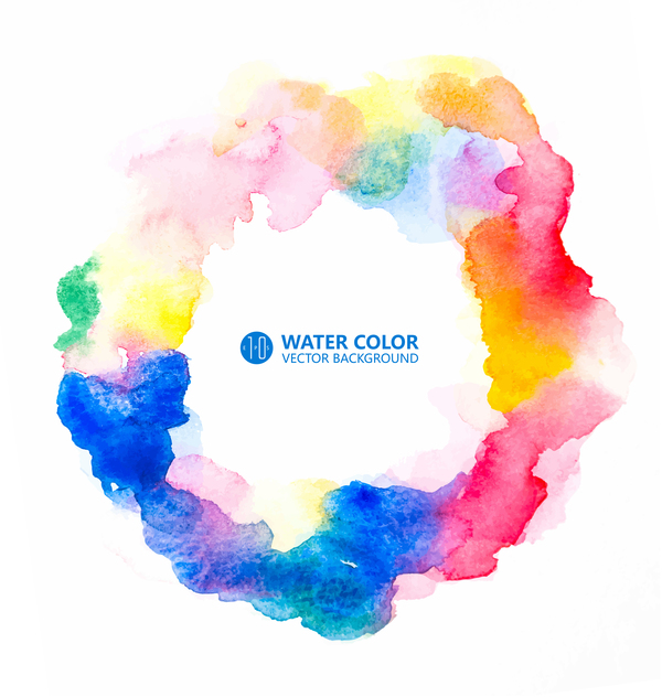 water color paint vector background 07 free download