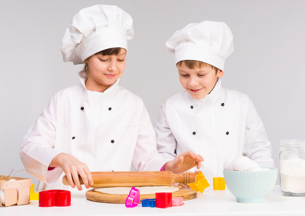 Wear a chefs uniform to catch the dough
