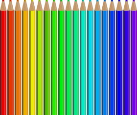 Welcome back to school backgrouns with colored pencils vector 01