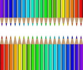 Welcome back to school backgrouns with colored pencils vector 02