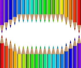 Welcome back to school backgrouns with colored pencils vector 03