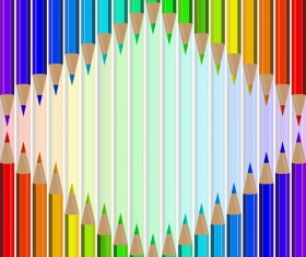 Welcome back to school backgrouns with colored pencils vector 04