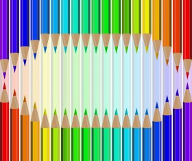 Welcome back to school backgrouns with colored pencils vector 05