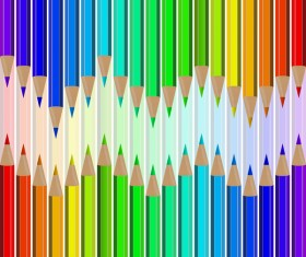 Welcome back to school backgrouns with colored pencils vector 06