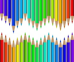 Welcome back to school backgrouns with colored pencils vector 10