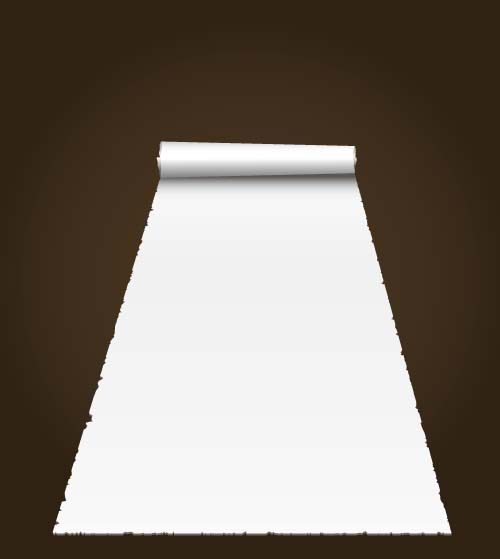 White paper and brown background vector