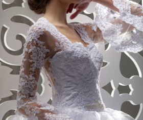 White wedding young charming bride Stock Photo 04