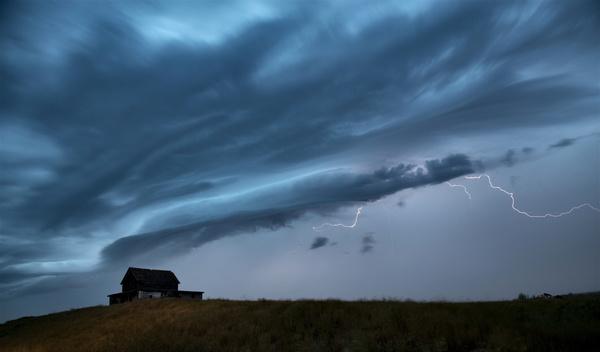 Wilderness Lodge Lightning Stock Photo