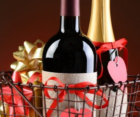 Wine Bottle and Valentines Presents in your shopping cart