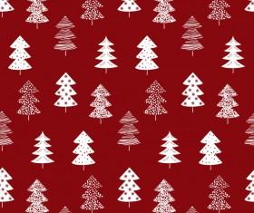 Winter tree seamless pattern vector 01