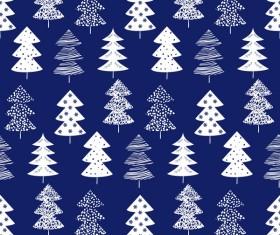 Winter tree seamless pattern vector 02