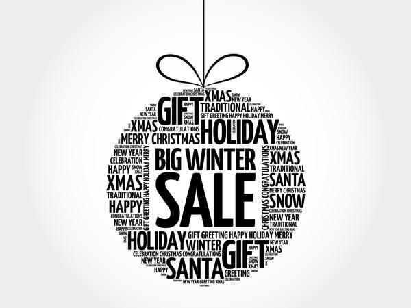 Word cloud christmas ball with sale vector 04