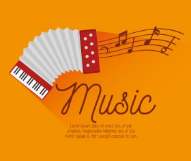 Yellow music background vector