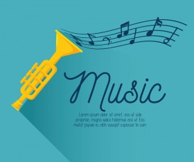 blue music background vector