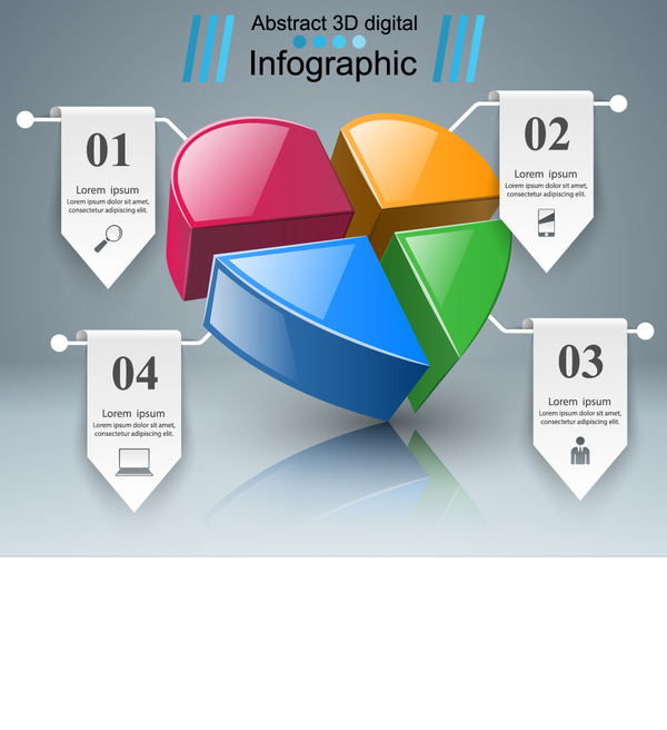 paper infograpfic 3d vector
