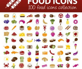 100 kind food icons
