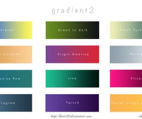 12 kind photoshop gradients pack