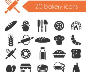 20 kind bakery icons