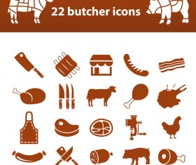 20 kind butcher icons