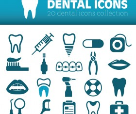 20 kind dental icons
