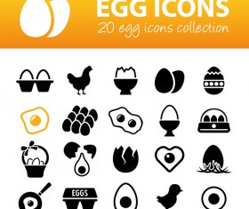 20 kind egg icons