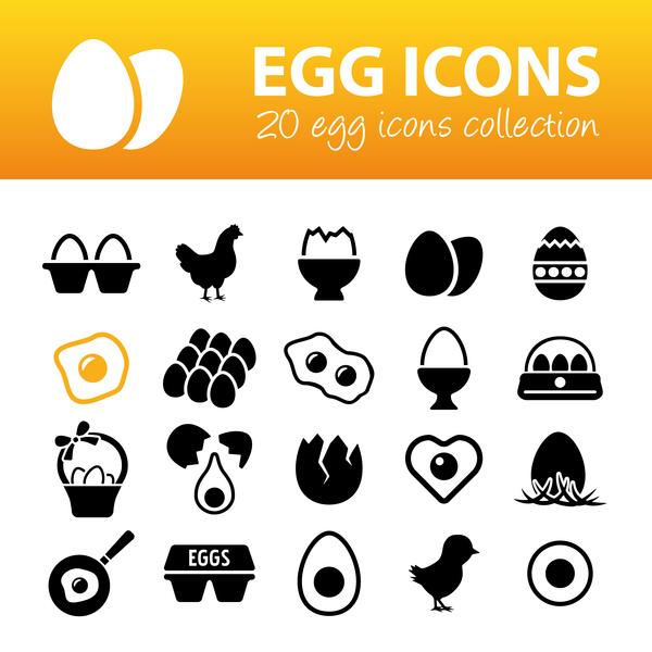 20 kind egg icons