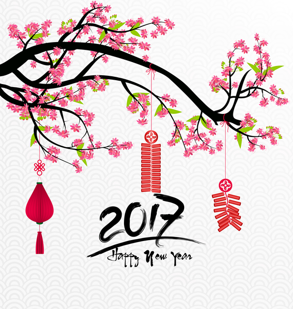 2018 chinese new year background with flowers vector 03 2018 chinese new year background with flowers vector 03 free