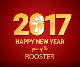 2017 chinese new year of rooster red styles background vector 01