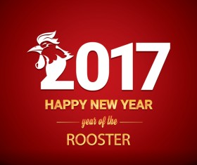 2017 chinese new year of rooster red styles background vector 02