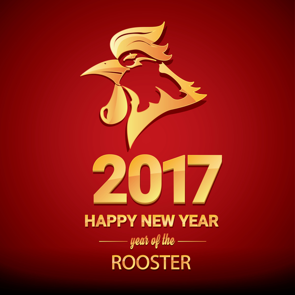 Free EPS file 2017 chinese new year of rooster red styles background ...
